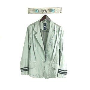 Free People S Silver Military Blazer Zip Back